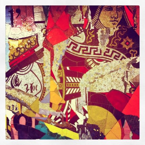 public art, subway art, mosaic in the flatbush subway station, brooklyn, ny, instagram photo, iphoneography