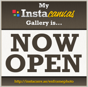 enframephoto instacanvas gallery; instagram iphoneography on canvas