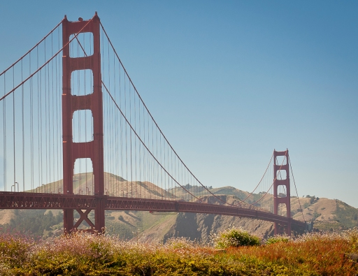 golden gate bridge landscape photo