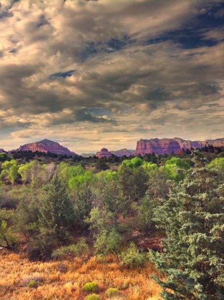Red Rocks of Sedona, Scenic View, Sedona, Arizona, iphoneography by enframephoto
