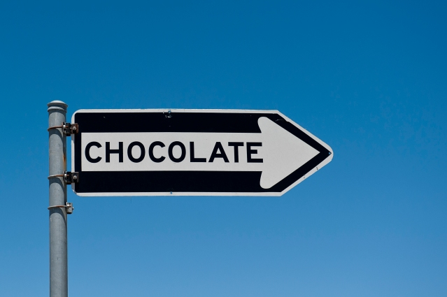This way to the chocolate, San Francisco, California