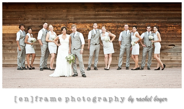 bridal party; saguaro lake ranch wedding