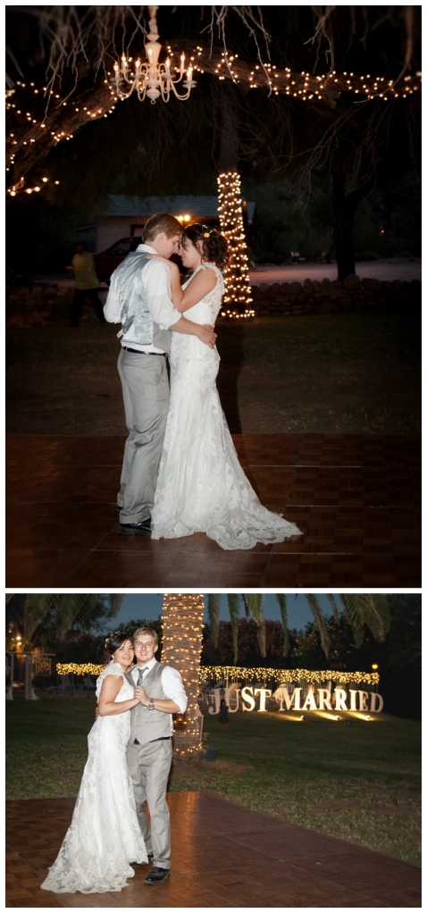 rustic wedding; first dance
