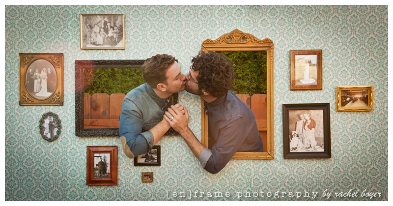 photo booth style engagement session