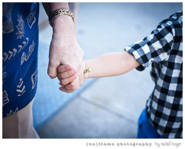 great grandmother and grandson holding hands multigenerational family photography scottsdale arizona