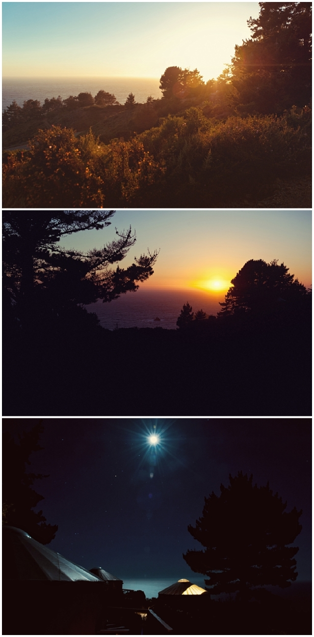 Travel Photography; Nature Photography; Sunset, Moonrise over the Pacific Ocean, Big Sur, California
