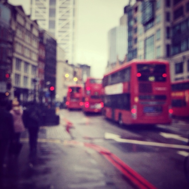 London iphoneography, Rainy London, Double Decker Bus
