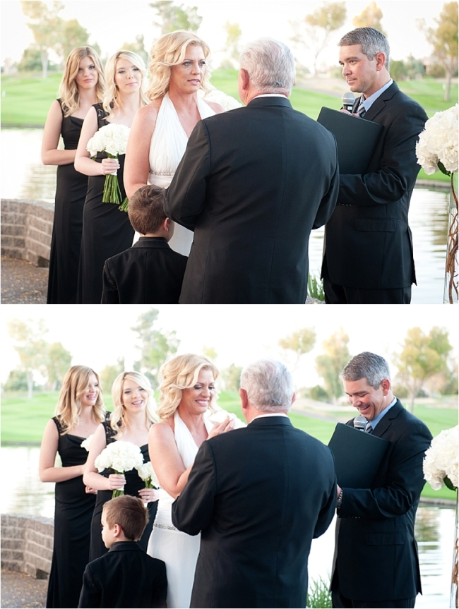 Intimate Wedding Ceremony, Gainey Ranch Golf Club, Scottsdale, Arizona