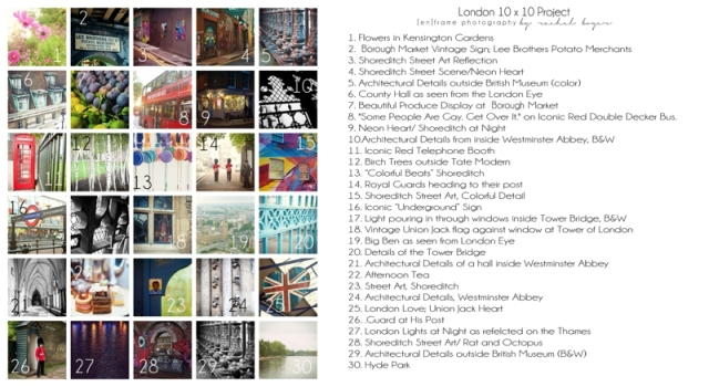 London Squared Project by [en]frame photography; numbered and detailed