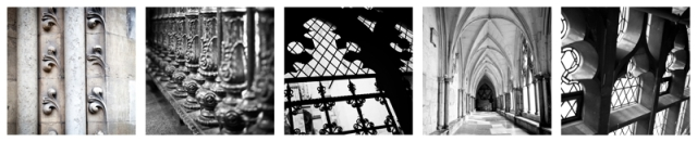 Fine Art Photography; Collection of Five Black and White Images of London Architectural Details