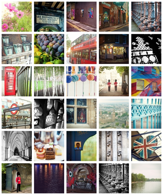 Fine Art Square Format Images of London, England