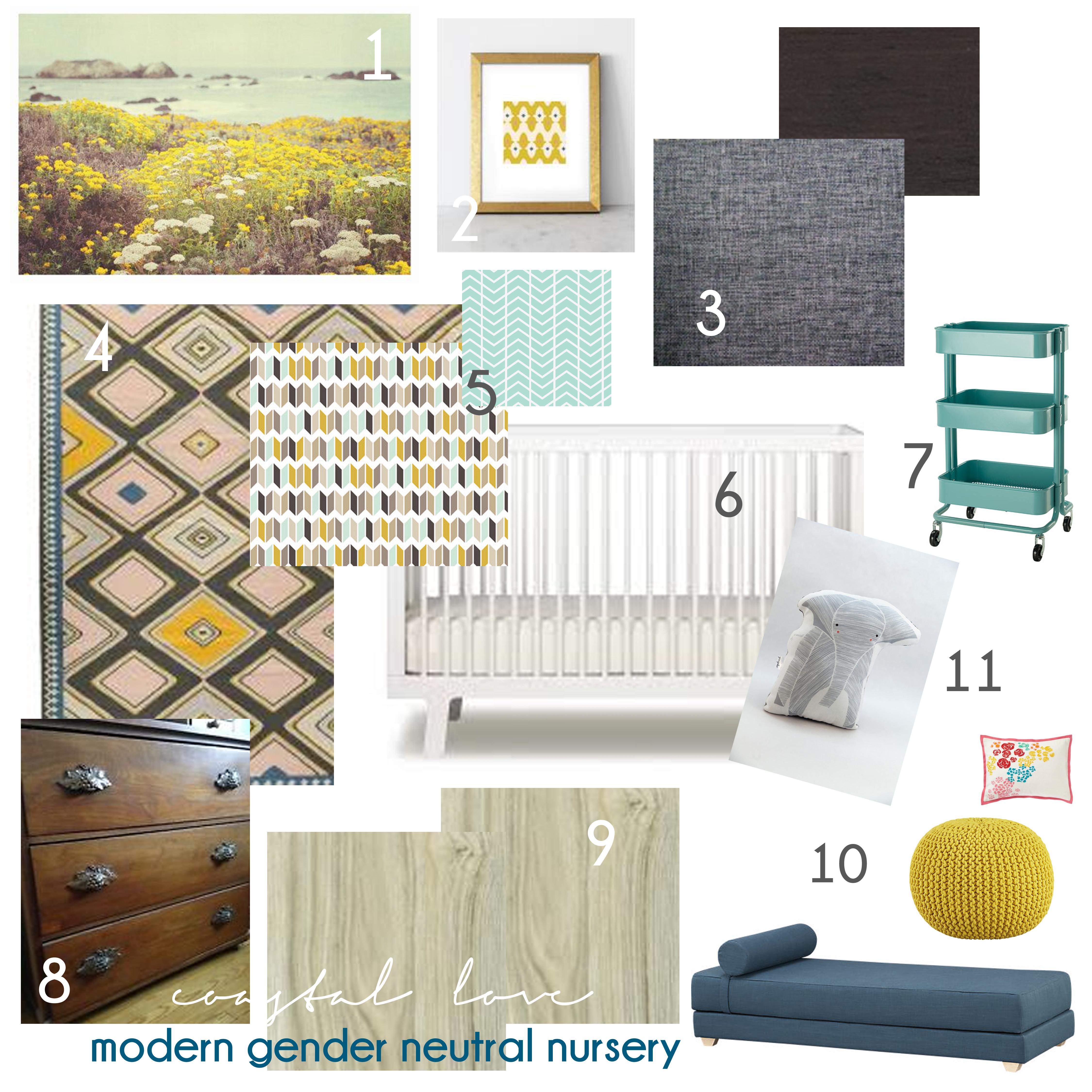 modern gender neutral nursery inspiration coastal love en frame