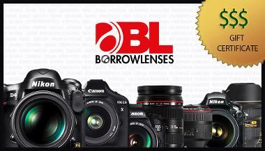 BorrowLenses Gift Certificate