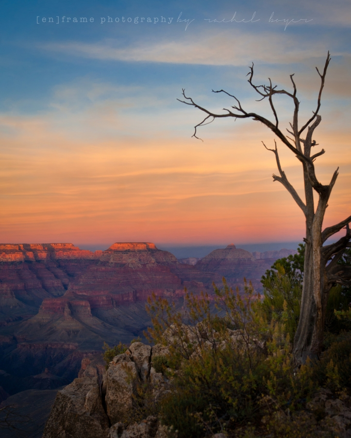 Sunset over the South Rim of the Grand Canyon, Arizona, Fine Art Landscape Photography