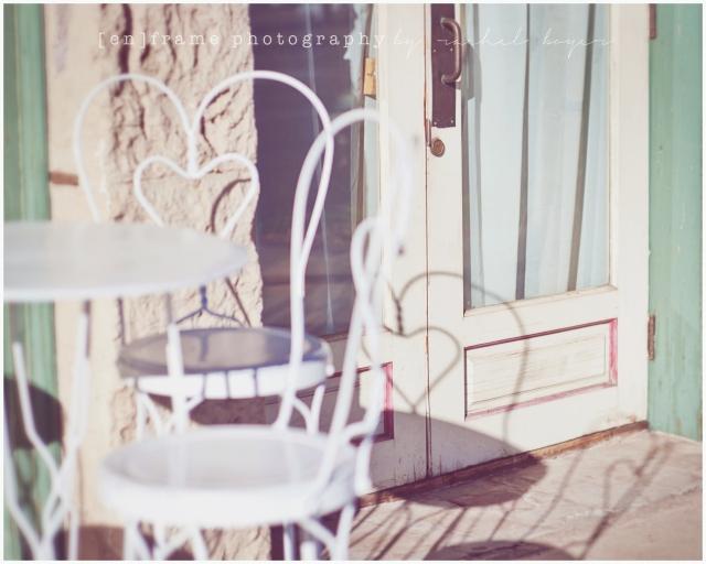 vintage ice cream shoppe, heart imagery, sweetheart, sweet heart fine art photograph
