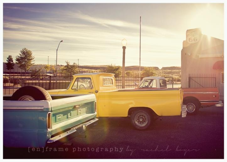 Route 66 Kingman, AZ Travel Photography Vintage Trucks Chevy Ford