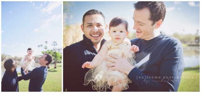 gay friendly family photography, gay family photo session, fathers and daughter, two fathers, phoenix scottsdale tempe family photography