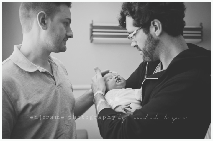 gay fathers welcome newborn baby girl, glbt family photography, family, love, lgbt, equality