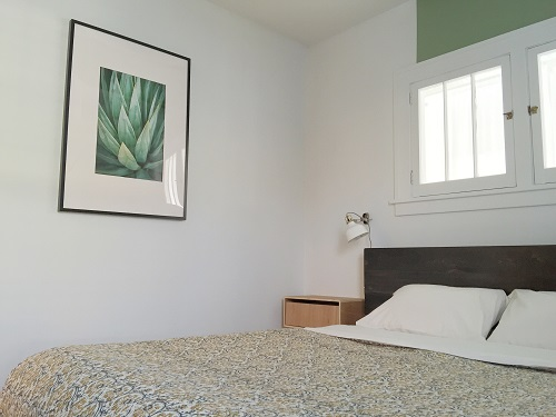 modern southwest agave print featured in minimalist modern southwest bedroom makeover enframe photography etsy