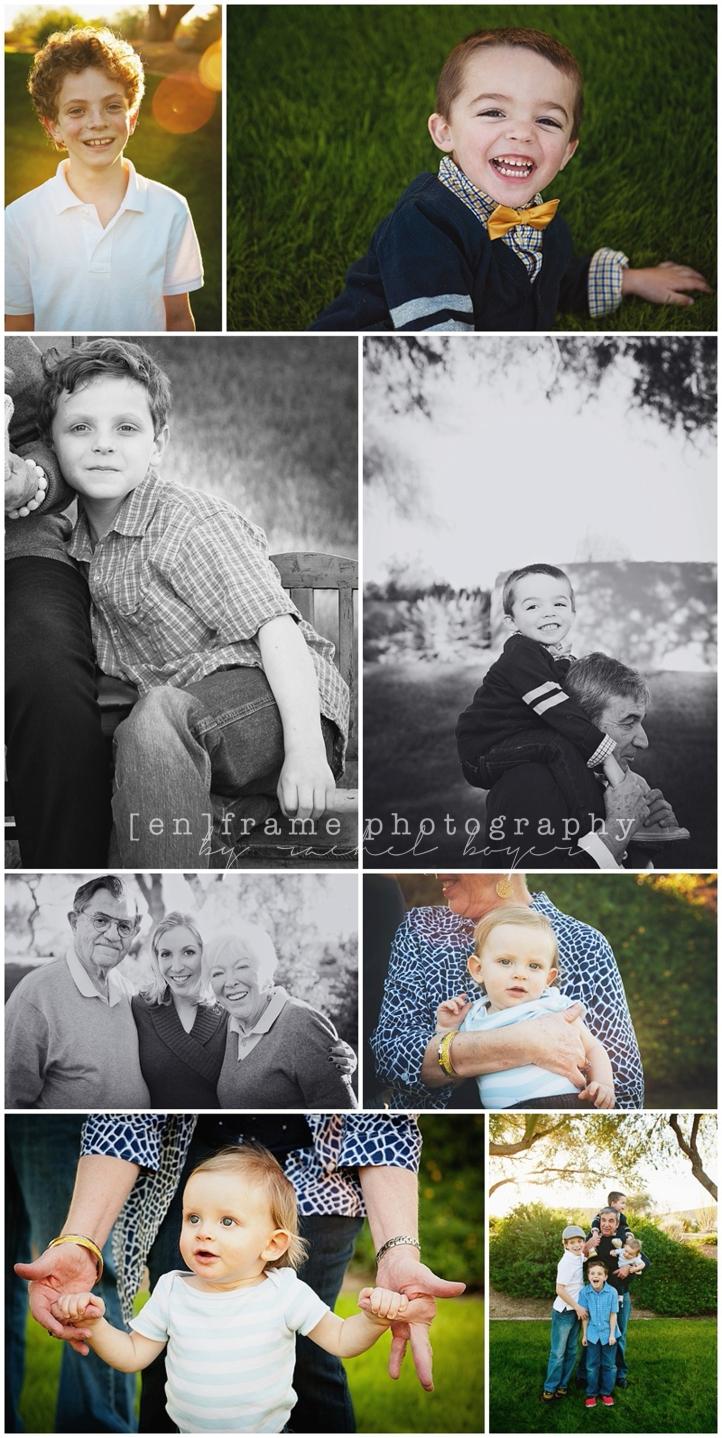 Family Portraits of Grandparents and Grandchildren; Great Grandparents and Great Grandchildren Scottsdale Arizona Family Photography