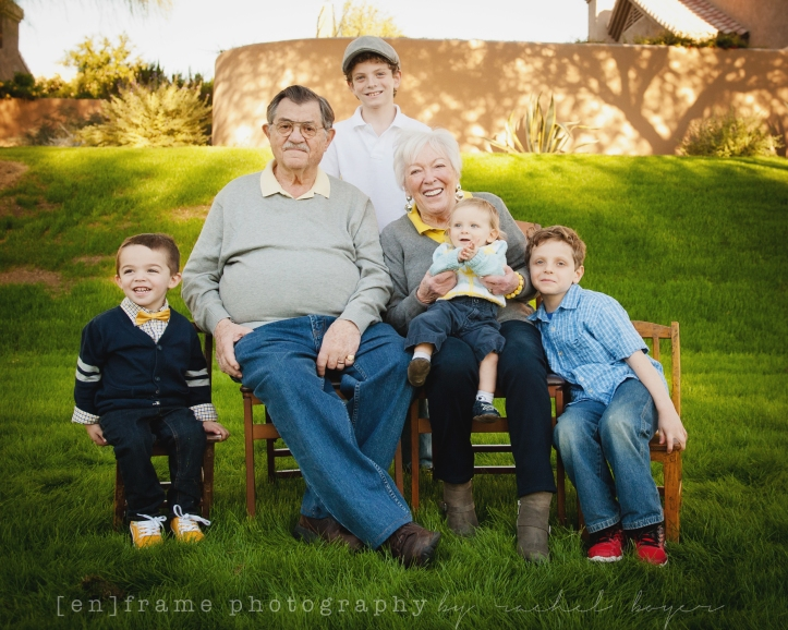 multigenerational family photography, great grand parents and great grandchildren scottsdale family photographer w WM