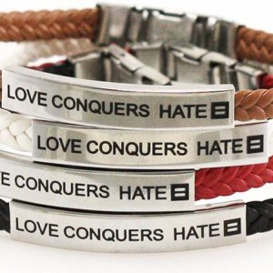 love conquers hate wristband 2