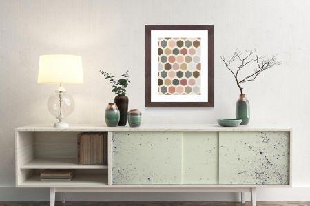 Mod Hive Framed Art Print, Wall Decor
