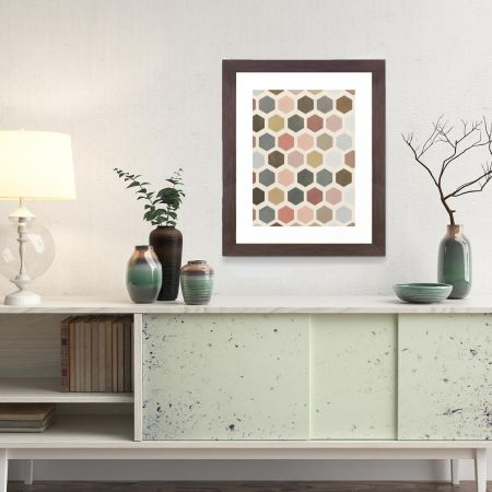 Mod Hive Framed Art Print, Wall Decor
