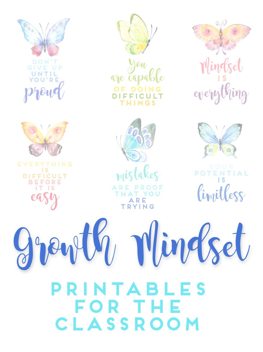 Growth Mindset Printables for the Classroom