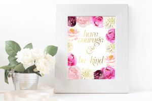 Printable Floral Home Decor