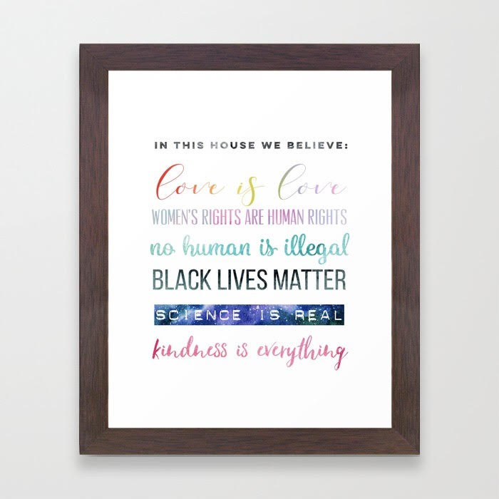 In This House We Believe. . . Framed Art Print.jpg