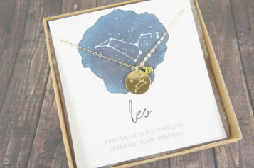Leo Constellation Necklace by RainRainRain