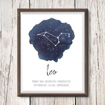 Leo Constellation Print by ENFRAME Printables