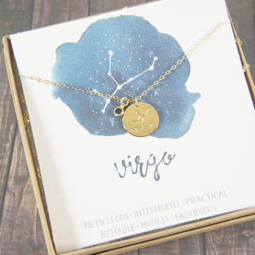 virgo necklace with birthstone baby shower gift 2
