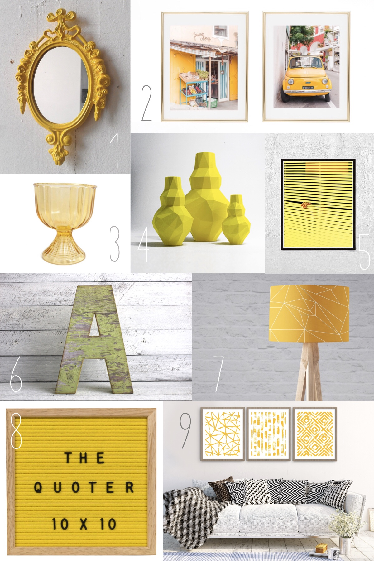 Yellow Home Decor | Etsy Round Up + Trend Watch