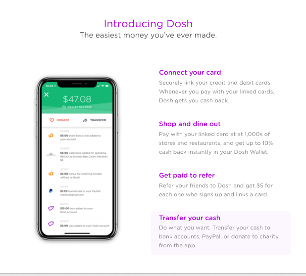Money Saving Apps for Busy Moms | DOSH Cash Back app