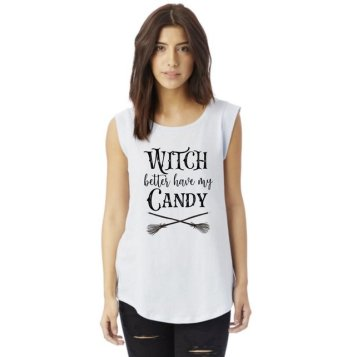 witch better have my candy woman wearing tank top