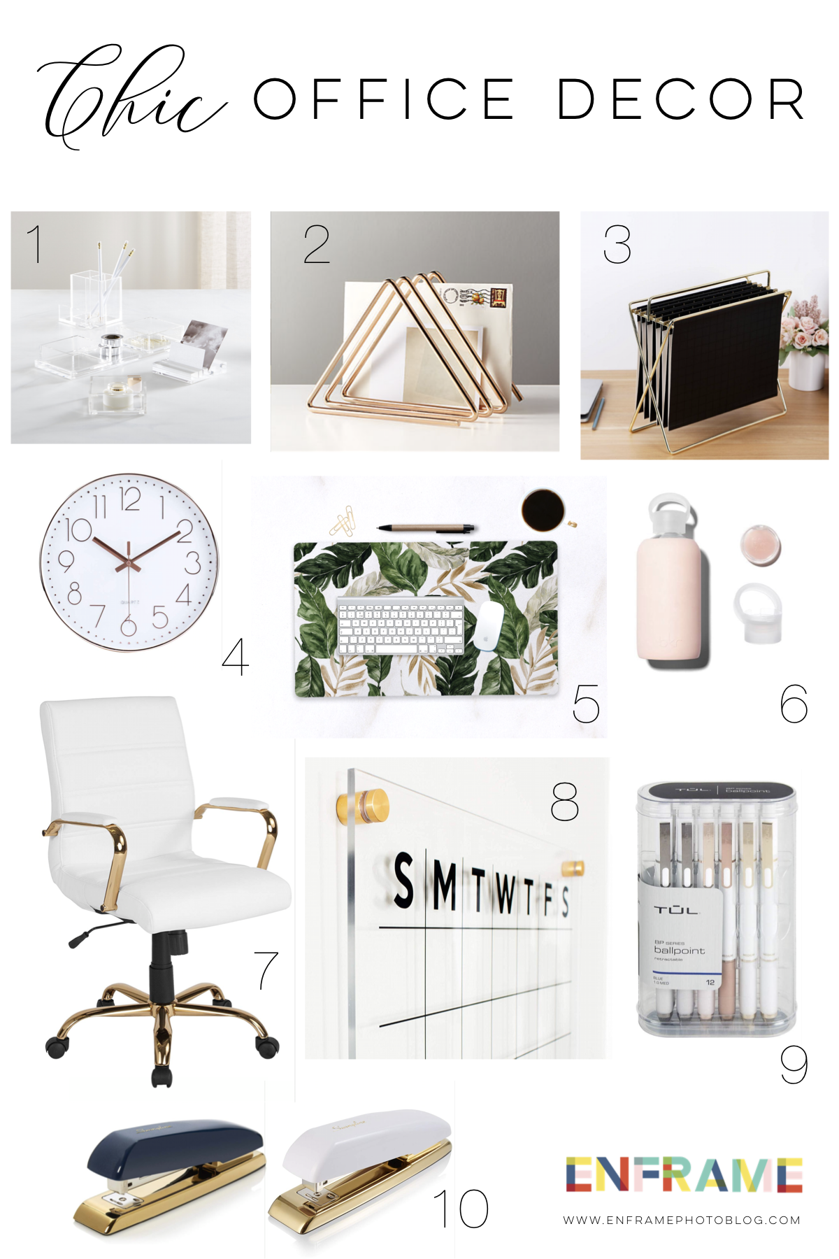 Chic Office Decor and Accessories