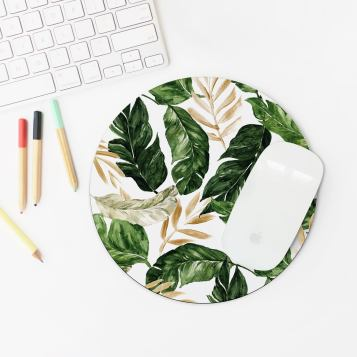 Chic Tropical Mousepad Stylish Office Decor