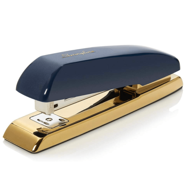 Stylish Stapler Navy and Gold Chic Office Decor