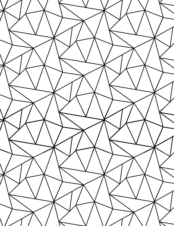 tesselated triangles coloring page