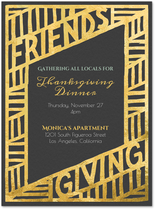 Virtual Friendsgiving Invitation